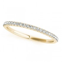 Diamond Accented Semi Eternity Wedding Band 18k Yellow Gold (0.13ct)
