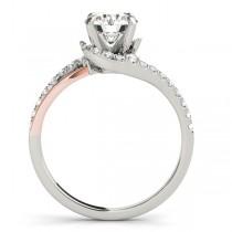 Diamond Split Shank Engagement Ring Setting 14k Two-Tone Gold (0.31ct)