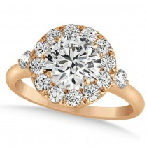 Diamond Circle Halo Preset Engagement Ring 14k Rose Gold (1.50ct)