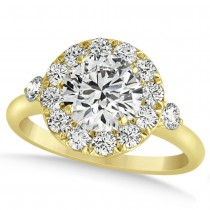 Diamond Circle Halo Preset Engagement Ring 14k Yellow Gold (1.50ct)
