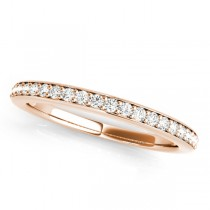 Semi Eternity Wedding Band Diamond Accented 14k Rose Gold (0.17ct)