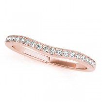 Diamond Contour Semi Eternity Wedding Band in 14k Rose Gold 0.25ct