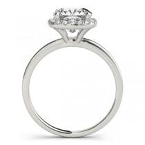 Cushion Diamond Halo Engagement Ring Platinum (0.15ct)