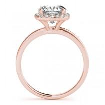 Cushion Diamond Halo Bridal Set 14k Rose Gold (1.14ct)