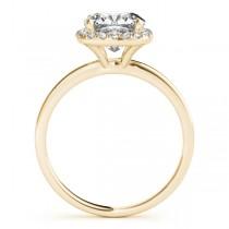 Cushion Diamond Halo Bridal Set 14k Yellow Gold (0.29ct)