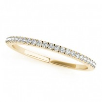 Diamond Prong Wedding Band 14k Yellow Gold (0.14ct)