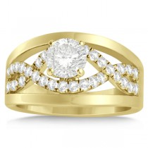 Split Shank & Twisted Infinity Engagement Ring 14k Yellow Gold (0.25ct)