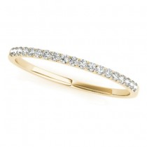 Diamond Accented Prong-Set Wedding Band 14k Yellow Gold (0.11ct)