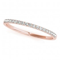 Diamond Accented Prong-Set Wedding Band 18k Rose Gold (0.11ct)
