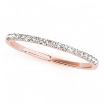 Thin Diamond Wedding Ring Band18k Rose Gold (0.11ct)