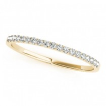Diamond Prong Wedding Band Ring 18k Yellow Gold (0.11ct)