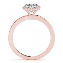 Diamond Square Halo Bridal Set 14k Rose Gold (1.26ct)