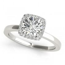 Diamond Square Halo Bridal Set 14k White Gold (1.26ct)