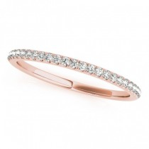 Diamond Pave Wedding Band Ring 14k Rose Gold (0.14ct)