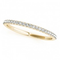 Diamond Pave Wedding Band Ring 14k Yellow Gold (0.14ct)