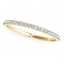Diamond Pave Wedding Band Ring 18k Yellow Gold (0.14ct)