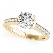 Diamond Accent Engagement Ring 14k Yellow Gold (0.72ct)