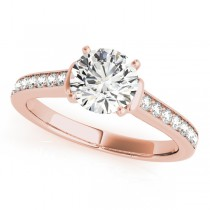 Diamond Accent Engagement Ring 18k Rose Gold (0.72ct)