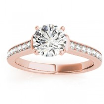 Diamond Accent Engagement Ring 14k Rose Gold (0.22ct)