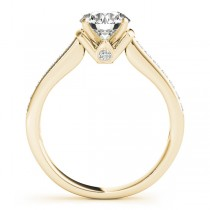 Diamond Accent Engagement Ring 14k Yellow Gold (0.22ct)