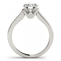 Diamond Accent Engagement Ring 18k White Gold (0.22ct)