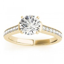 Diamond Accent Engagement Ring 18k Yellow Gold (0.22ct)