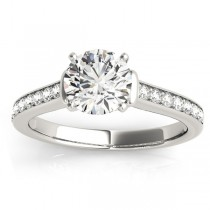 Diamond Accent Engagement Ring Palladium (0.22ct)