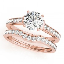 Diamond Accent Bridal Set 14k Rose Gold (0.98ct)