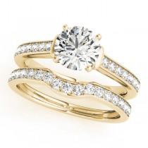 Diamond Accent Bridal Set 14k Yellow Gold (0.98ct)