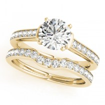 Diamond Accent Bridal Set 18k Yellow Gold (0.98ct)