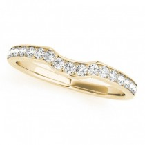 Diamond Curved Wedding Band 14k Yellow Gold (0.26ct)