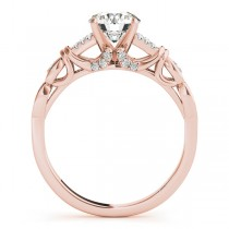 Diamond Antique Style Engagement Ring Setting 14k Rose Gold (0.14ct)