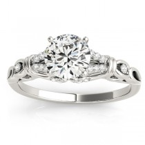 Diamond Antique Style Engagement Ring Setting Platinum(0.14ct)