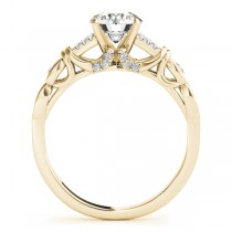 Diamond Antique Style Bridal Set Setting 14k Yellow Gold (0.18ct)