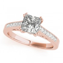 Double Prong Princess-Cut Diamond Engagement Ring 18k Rose Gold (1.25ct)