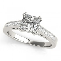 Double Prong Princess-Cut Diamond Engagement Ring 18k White Gold (1.25ct)