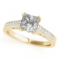 Double Prong Princess-Cut Diamond Engagement Ring 18k Yellow Gold (1.25ct)
