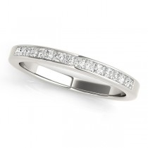 Princess-Cut Diamond Channel Wedding Band 14k White Gold (0.25ct)