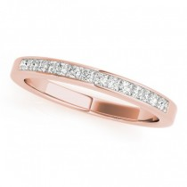 Princess-Cut Diamond Channel Wedding Band 18k Rose Gold (0.25ct)