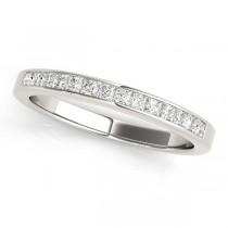 Princess-Cut Diamond Channel Wedding Band 18k White Gold (0.25ct)