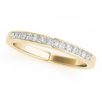Princess-Cut Diamond Channel Wedding Band 18k Yellow Gold (0.25ct)