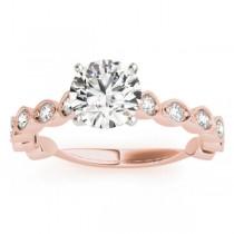 Vintage Style Diamond Engagement Ring Setting 18k Rose Gold (0.40ct)