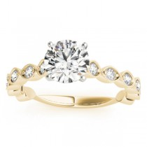 Vintage Style Diamond Engagement Ring Setting 18k Yellow Gold (0.40ct)