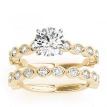 Diamond Bridal Set Setting 14k Yellow Gold (0.80ct)