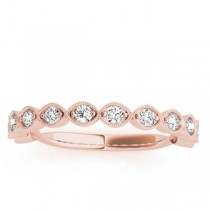 Vintage Marquise Diamond Wedding Ring Band 18k Rose Gold (0.40ct)|escape
