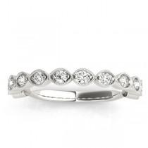 Vintage Marquise Diamond Wedding Ring Band Platinum (0.40ct)