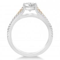 Diamond Three Row Engagement Ring 14k Rose Gold (0.33ct)