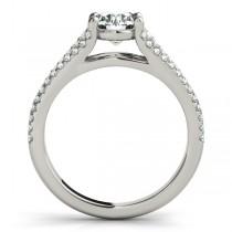 Diamond Three Row Engagement Ring 14k White Gold (1.33ct)