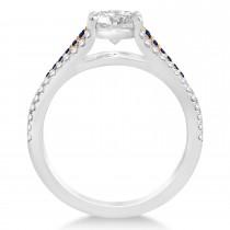 Blue Sapphire & Diamond Engagement Ring 18k Rose Gold (0.33ct)