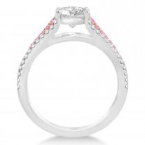 Pink Sapphire & Diamond Engagement Ring 14k Rose Gold (0.33ct)